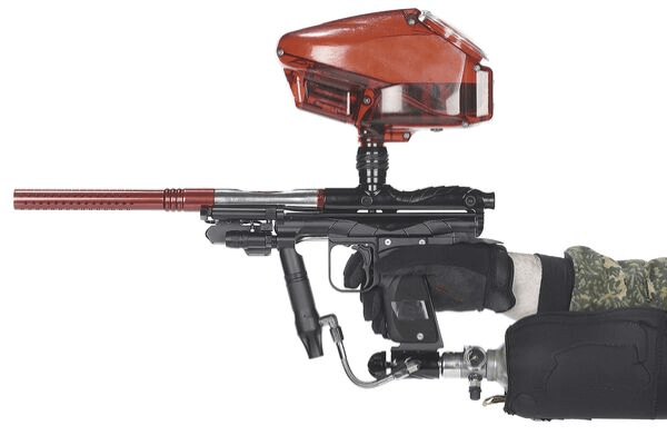 electronic paintball gun