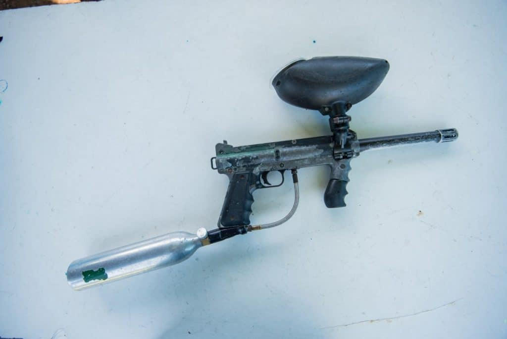 typical paintball gun