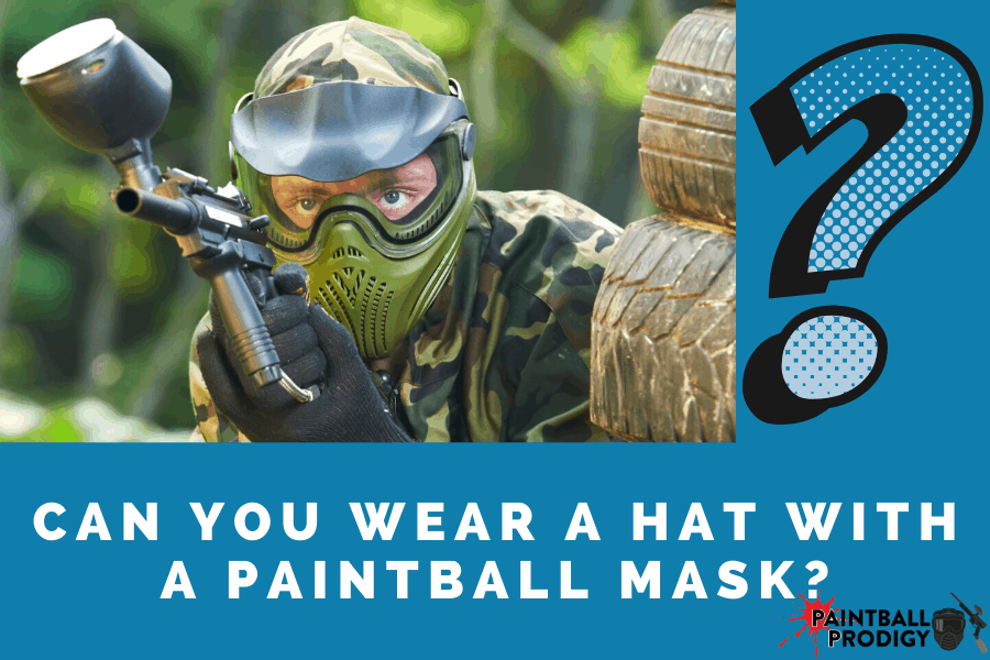 can you wear a paintball mask with a hat