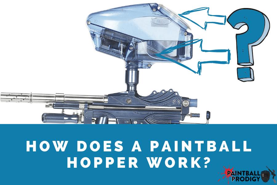 how does paintball hopper work