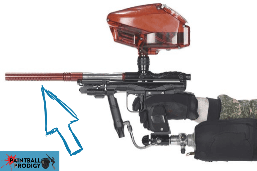 cleaning paintball gun barrel