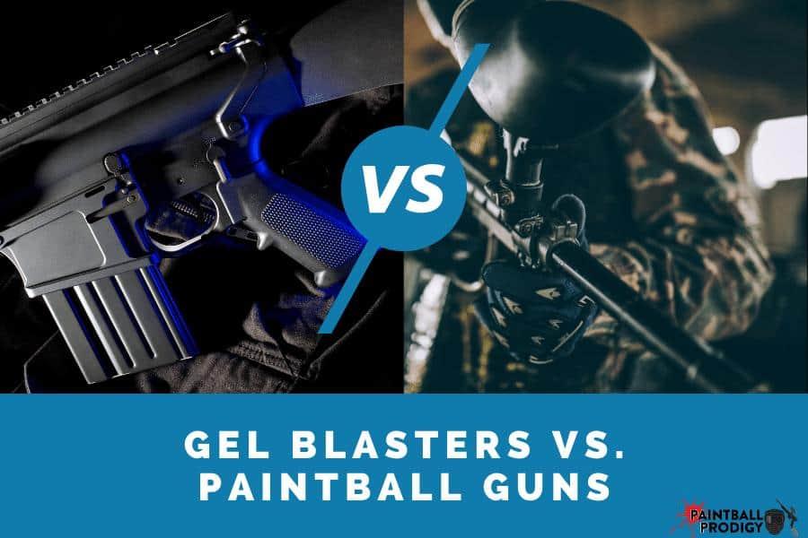 gel blaster vs. paintball gun differences