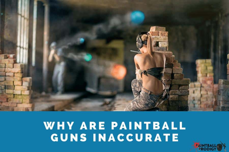 Solution for a paintball gun shooting inaccurately.