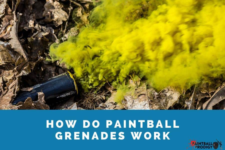 paintball grenade in action