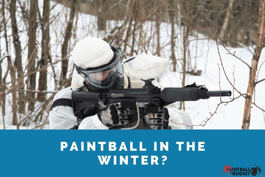 you can play paintball in the winter by doing the following: