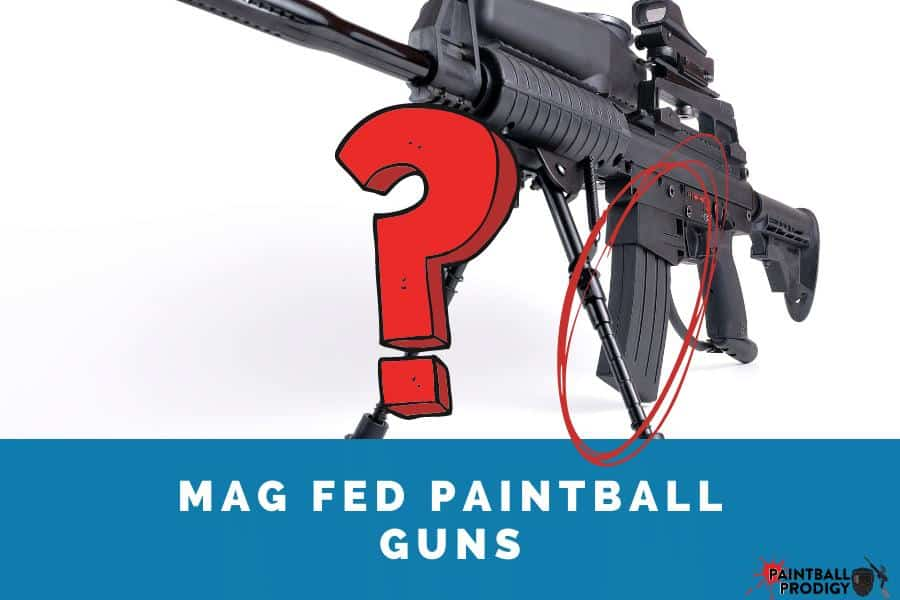 example of a mag-fed paintball gun