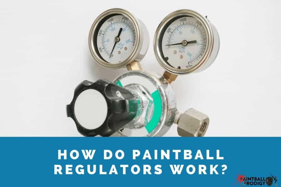 paintball tank regulators in work