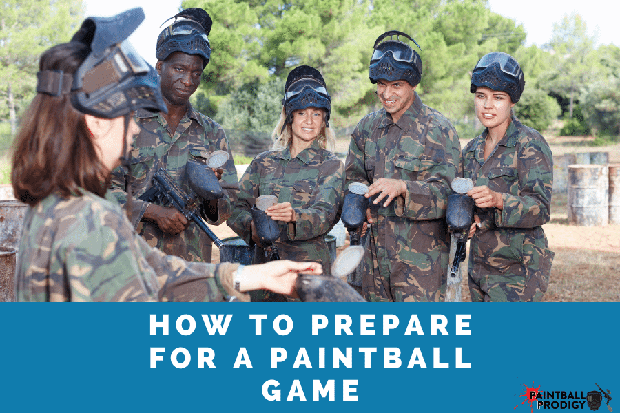 how to prepare for a paintball game