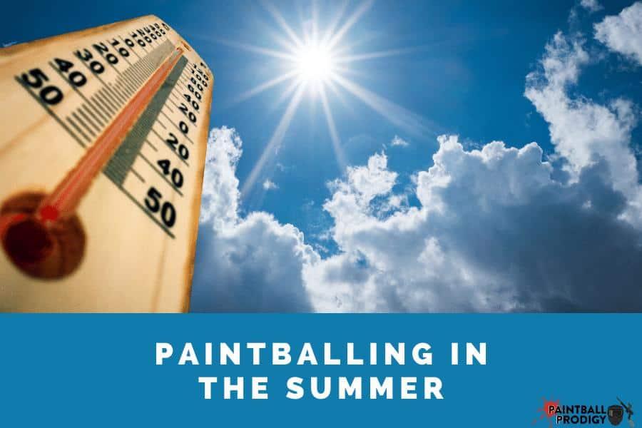 paintball equipment in summer